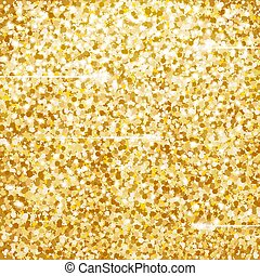 Golden Glitter Texture with Lights.