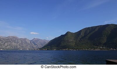 Kotor Bay in Montenegro. Mountains, canyons sea
