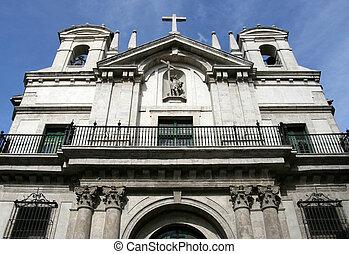 Valladolid, Spain - Iglesia Penitencial de la Vera Cruz. Old...
