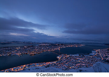 Blue Hour over Tromso, Norway - Blue Hour, photo taken over...