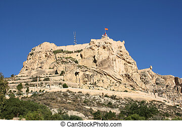 Alicante in Comunidad Valenciana, Spain Mountain with Saint...