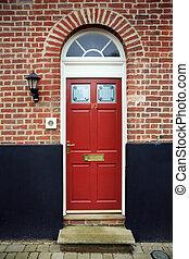 PERIOD FRONT DOOR - Period front door in a brick facade