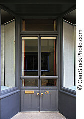 Shop front Doorway - Shop front entrance doorway with glazed...