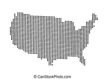USA map vector illustration