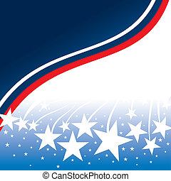 Flag Day - United States patriotic background design with...