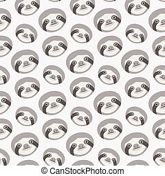 Seamless vector pattern with sloths - Sloths, Seamless...