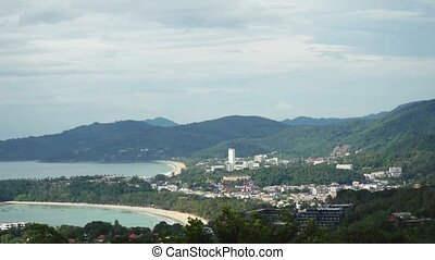 Aerial view of Phuket island from the mountains. Thailand,...