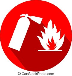 Fire safety flat design logo vector eps 10