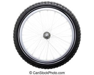 Spinning bicycle wheel - Spinning or rotating sport bicycle...