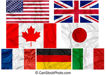 Flags of G7 contries - Flags of world G7, Group of Seven,...