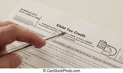 IRS Form 1040 Schedule 8812 Child Tax Credit - An anonymous...