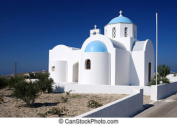Small church in Santorini, Greece