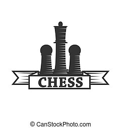 Chess club vector icon template of chessman king and rook or...