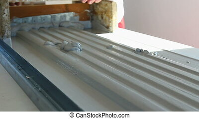 Molding profile - Craftsmen made plaster moldings on the...