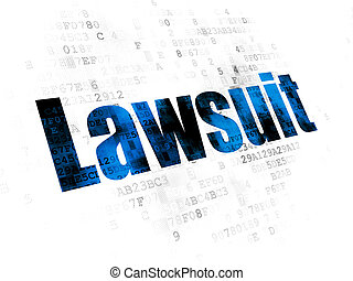 Law concept: Lawsuit on Digital background - Law concept:...