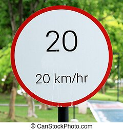 speed limit sign 20