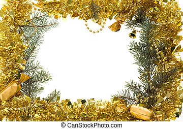 Christmas frame - Christmas composition in form of frame...