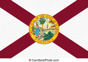 Flag of Florida Wall. - Illustration of the flag of Florida...