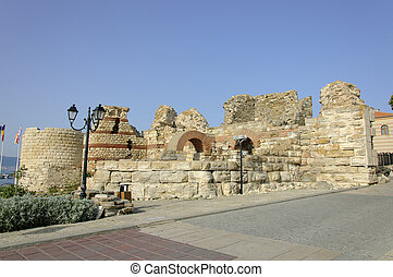 Fortification Wall of Nessebar - The fortification wall of...