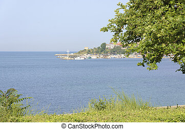 Nessebar Bay - The view of Nessebar Bay at sunny summer day