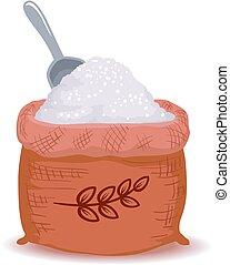 Flour inside the Sack