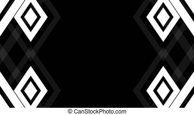 Abstract white lines. Technology background. Seamless loop