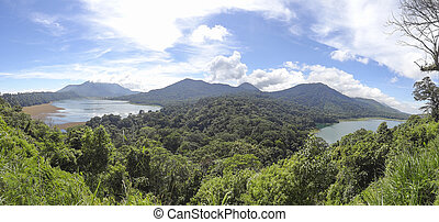 Lake Tamblingan in Bali - Lake Tamblingan, a caldera lake at...