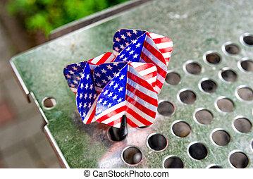 Dart arrows with a the USA flag