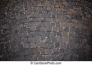 black stone floor background