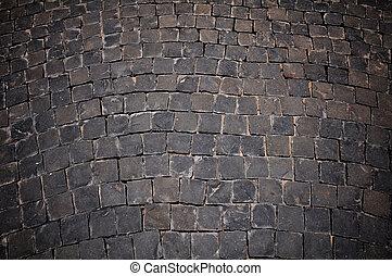 black stone floor background