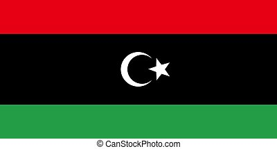 Flag of Libya, vector illustration Official symbol of the...