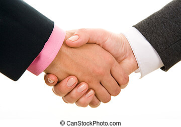Making an agreement - Photo of handshake of business...