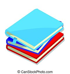 Isolated of books - vector illustration