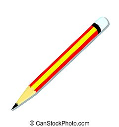 Isolated of pencil - vector illustration