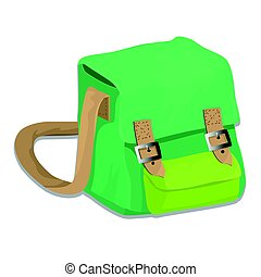 Isolated of school bag - vector illustration
