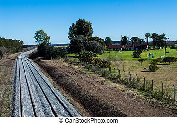 line railway well preserved with clean and beautiful farm...