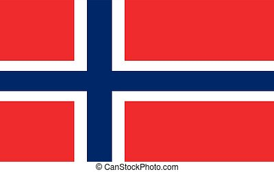 Norwegian Flag, vector illustration official symbol of the...