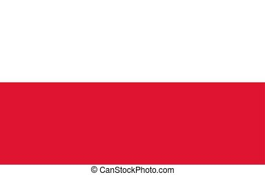 Flag of Poland, vector illustration Official symbol of the...