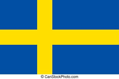 Flag of Sweden, vector illustration Official symbol of the...