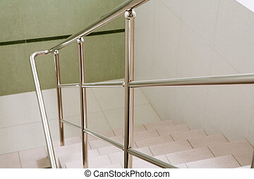Ladder - Image of marble ladder in office building between...