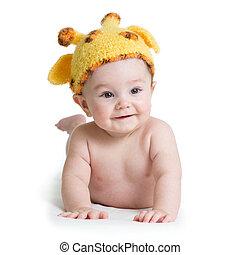 infant baby boy weared giraffe hat - Child baby boy weared...
