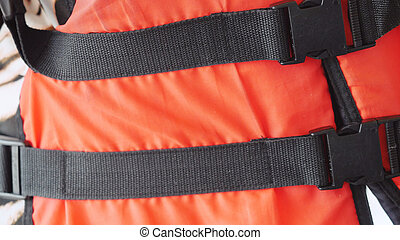 Orange life safety jacket