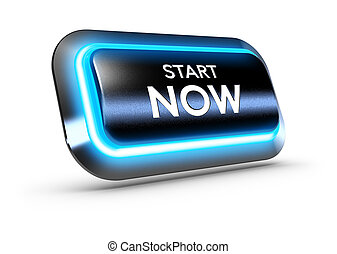 Start Now Button Over White Background