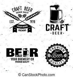 Vintage design for bar, pub and restaurant business. - Set...