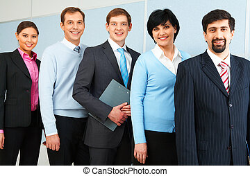 Leadership - Photo of successful employees looking at camera