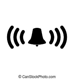 Ringing bell  the black color icon .