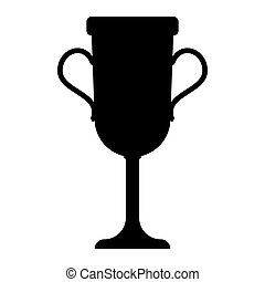 Trophy cup  the black color icon .