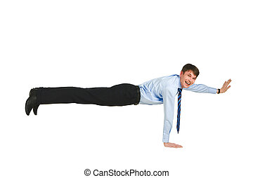 Exercise - Photo of skilled man standing on one arm over...