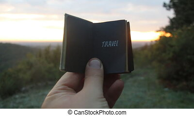 Travel idea. Book with the inscription - Book with the...