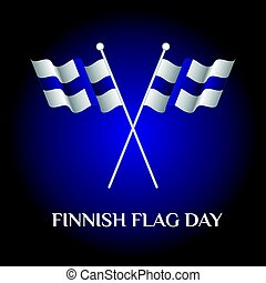 Finnish Flag Day - Greeting card of Finnish Flag Day....